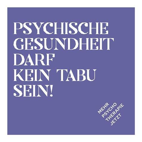 Psychische Gesundheit darf kein Tabu sein! mental health matters